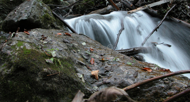 Milky waterfall 4 royalty free stock photo