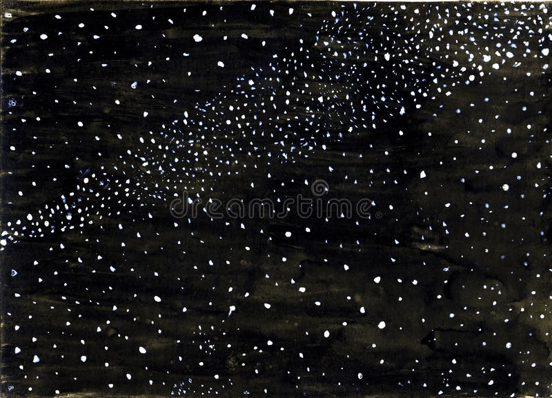 Download Milky way stock illustration. Image of paper, space, gouache - 11826591