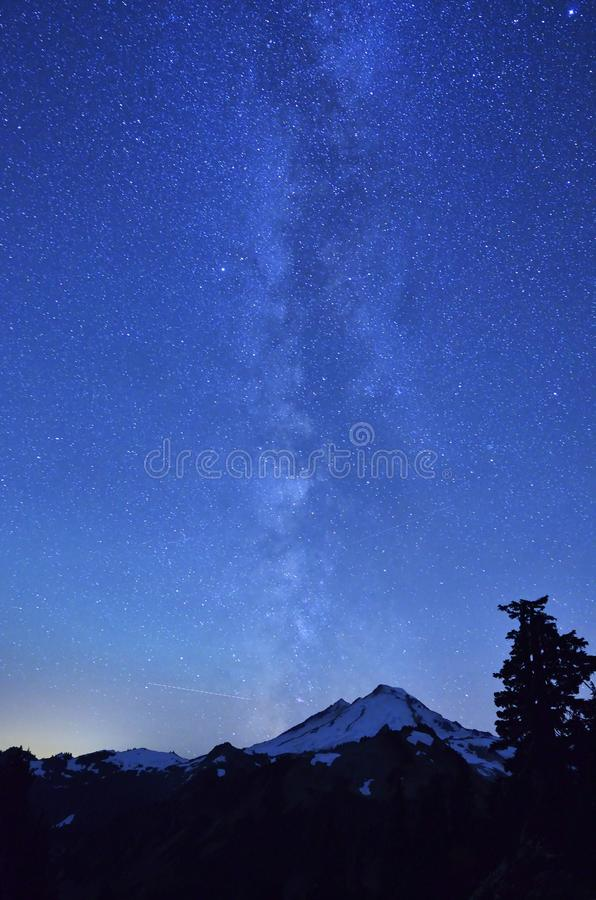 Download Milky Way stock image. Image of trail, planet, mountain - 27127553