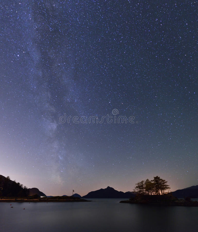 Milky Way and Anvil Island