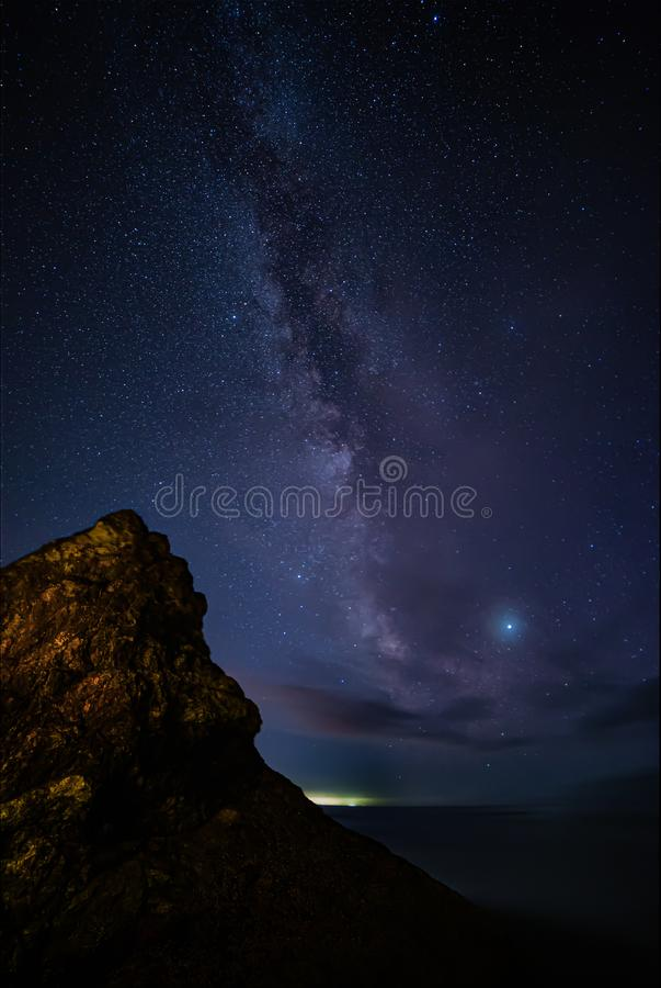 The Milky Way as Seen from Northern California, USA royalty free stock images