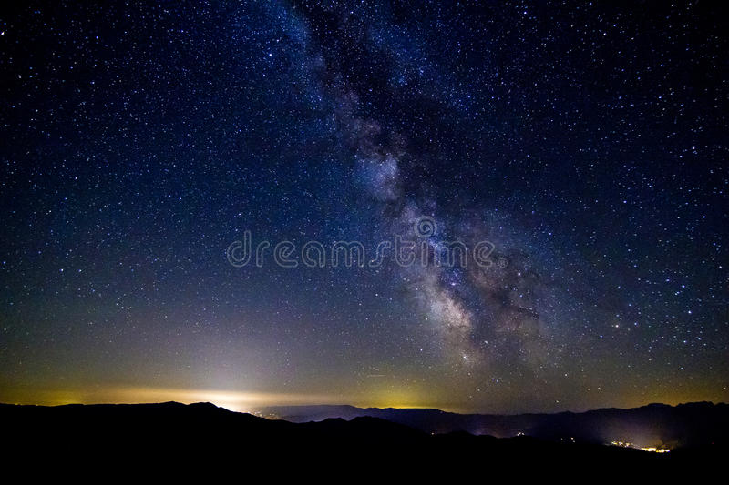 The Milky Way, Washington State royalty free stock images