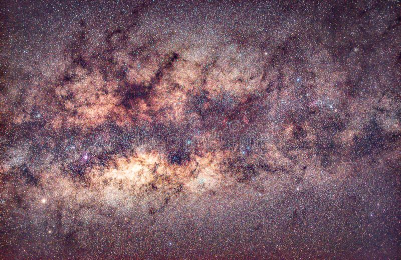 Milky way core with nebulosity royalty free stock photo