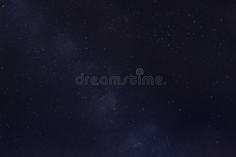Milky Way and falling star stock photo