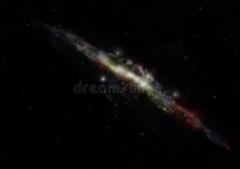 Download Milky Way Galaxy stock illustration. Image of future - 15883187