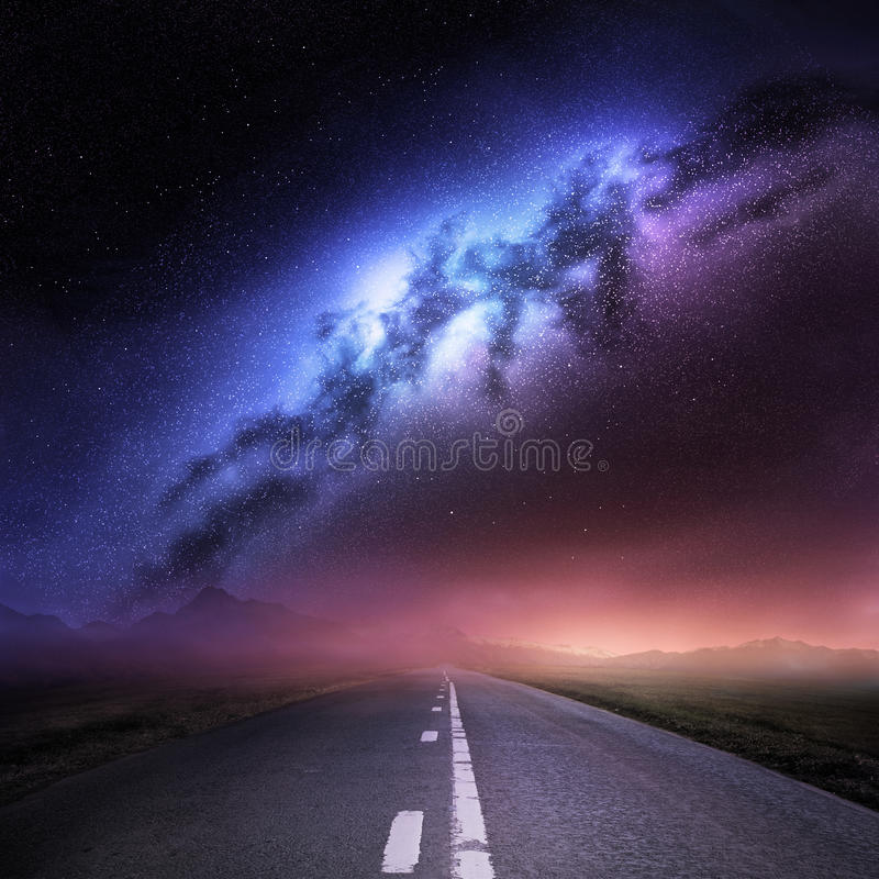 Milky Way Galaxy From Earth stock illustration