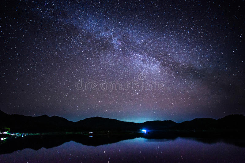 Milky Way, the Galaxy stock photography