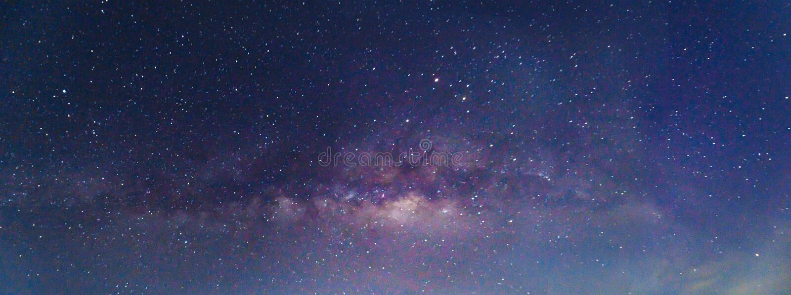 Milky way galaxy. And stars royalty free stock photos