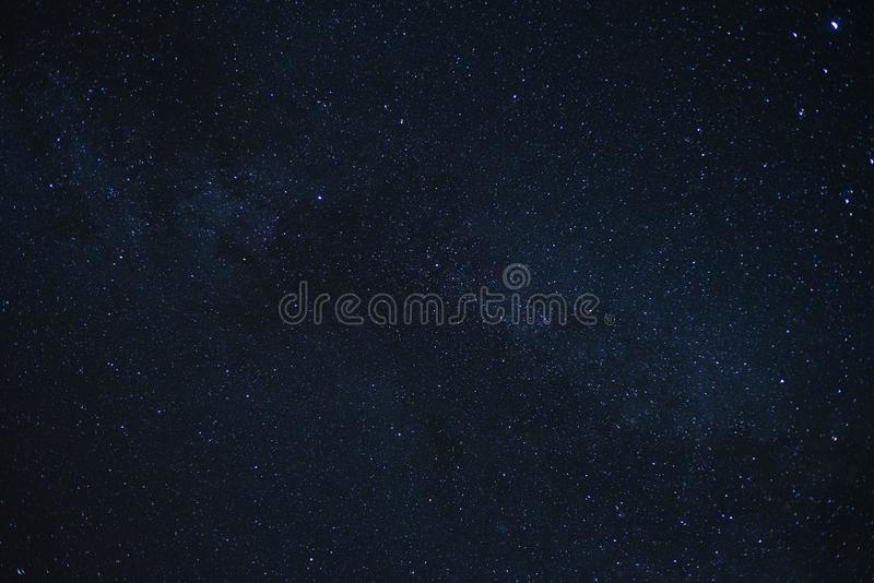 Milky way Galaxy Stars Astronomy Background. Milky Way galaxy at night with a mass of bright stars with copyspace area for space and astronomy designs and ideas stock photography
