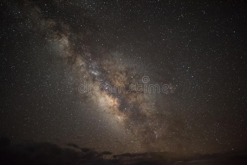 Milky Way Galaxy. With stars at the Grand Canyon in Arizona royalty free stock images