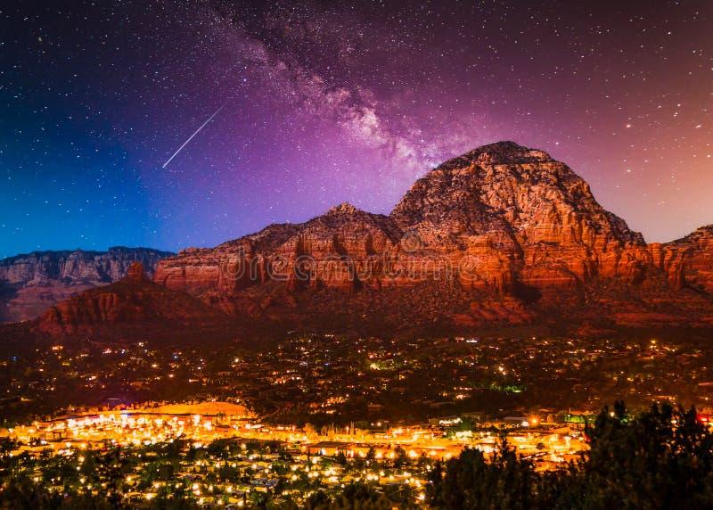 Milky Way Galaxy stars over Sedona Arizona royalty free stock photo