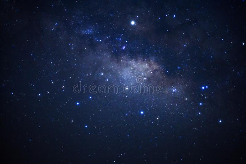Milky way galaxy with stars and space dust in the universe royalty free stock photography