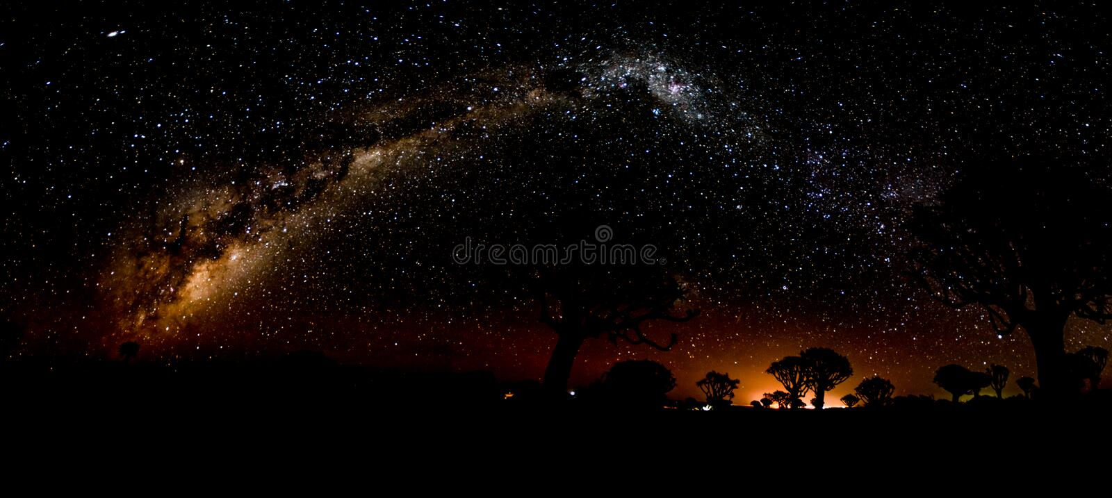 Milky Way from horizon to horizon royalty free stock photo