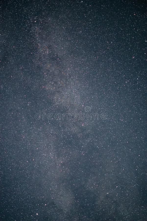 The Milky Way. A long exposure shot featuring the `Milky Way` and its dust cloud royalty free stock images