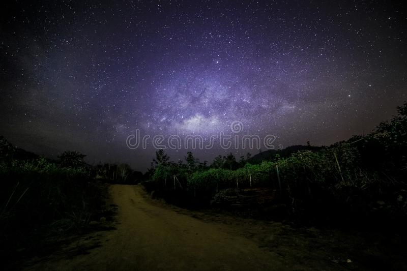 Milky way milkyway as seen from Gopeng Perak Malaysia Asia.  royalty free stock photography
