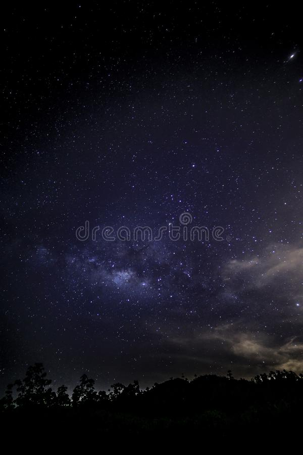 Milky way milkyway as seen from Gopeng Perak Malaysia Asia.  royalty free stock image