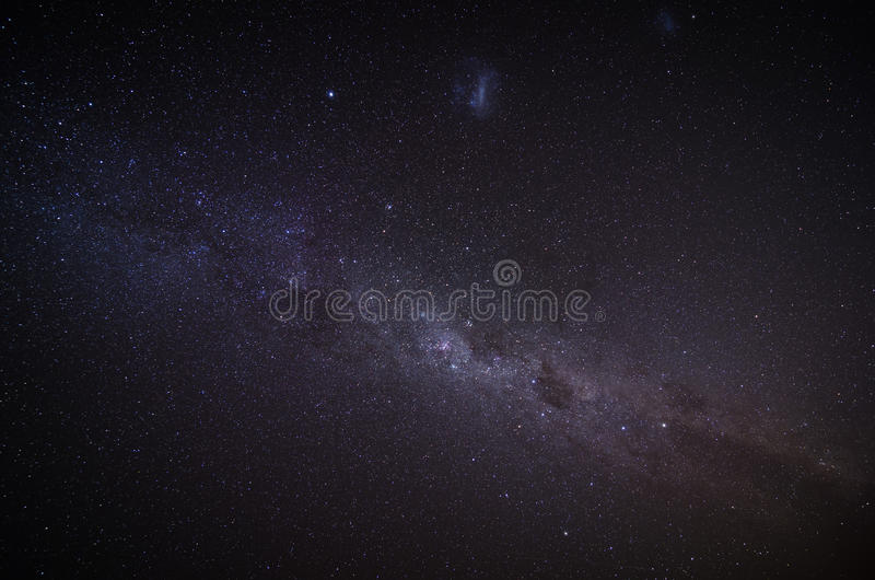 The Milky Way in the night sky royalty free stock photography