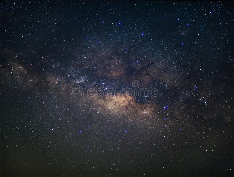 Milky way in night sky.  stock photos