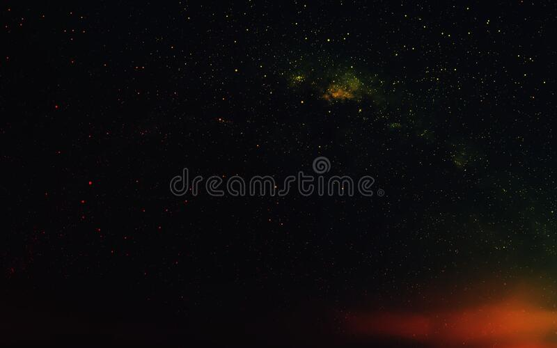 Milky Way in night sky stock photography