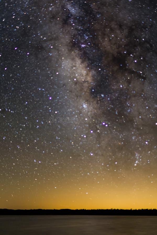 Milky Way over Ashurst Lake royalty free stock photography