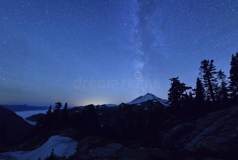 Milky Way Over Mount Baker Royalty Free Stock Images