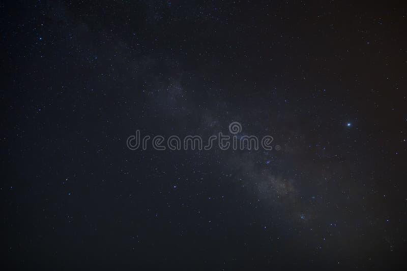 Milky Way over mud volcanoes stock photo