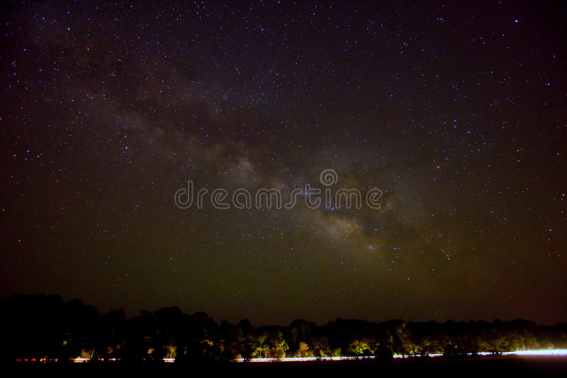 Download Milky way over road stock photo. Image of black, starfield - 14142934