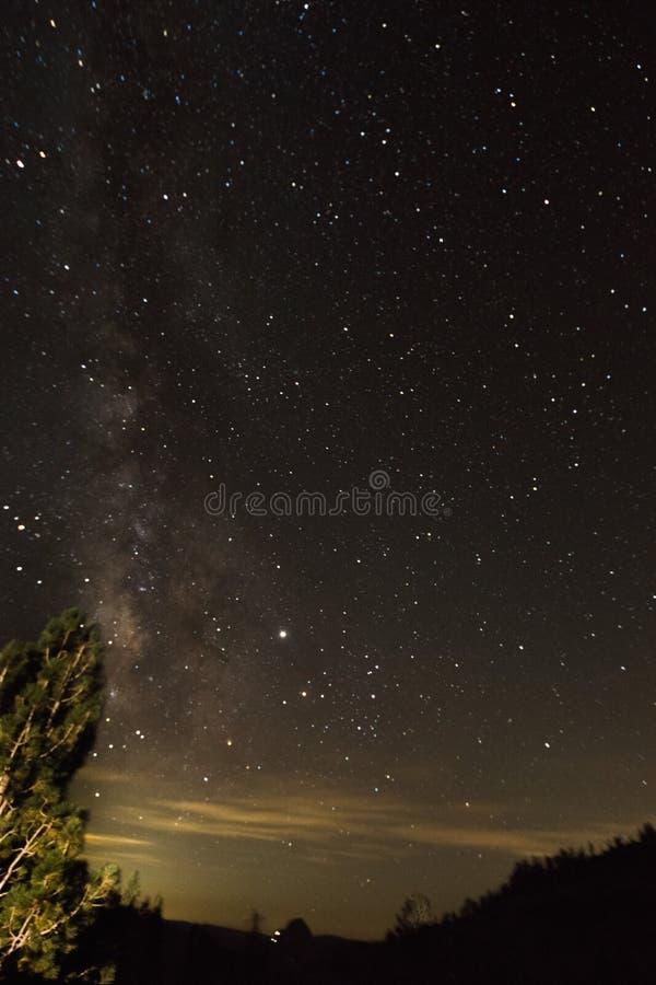 Milky Way over Yosemite NP royalty free stock photos