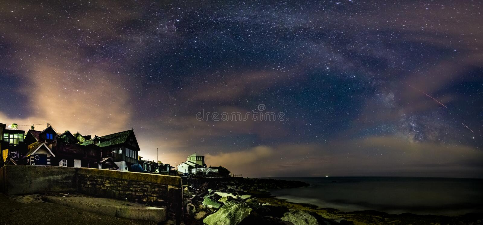 Milky Way panorama royalty free stock images