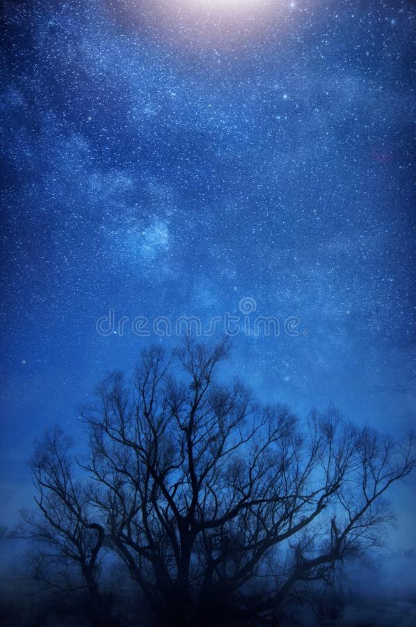 Milky way sky stock images