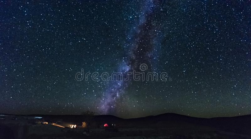 The milky way from southern israel stock photo