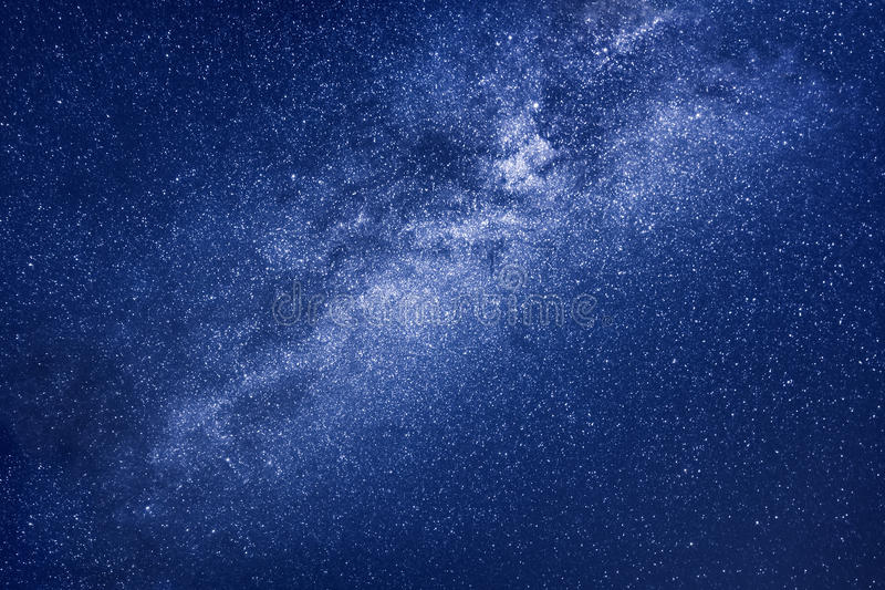 Milky way stars background stock photography