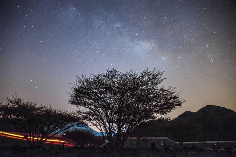 Milky way stars in fujairah uae stock photo