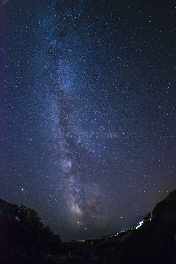 Milky Way and stars from Ventotene island. Italy. royalty free stock photos