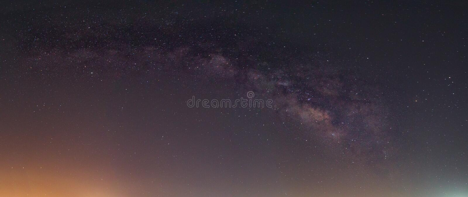 Milky Way in Thailand stock photography