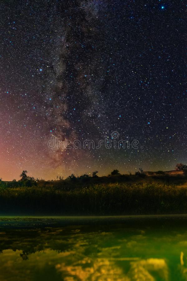 Clearly night starry sky. A Milky Way Clouds stock photos