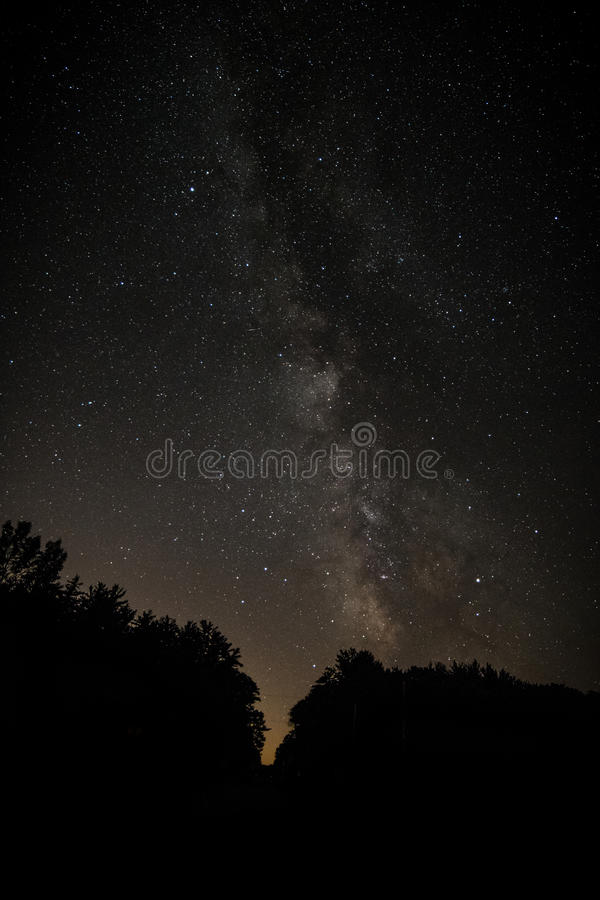 Milky Way in Wisconsin royalty free stock photo
