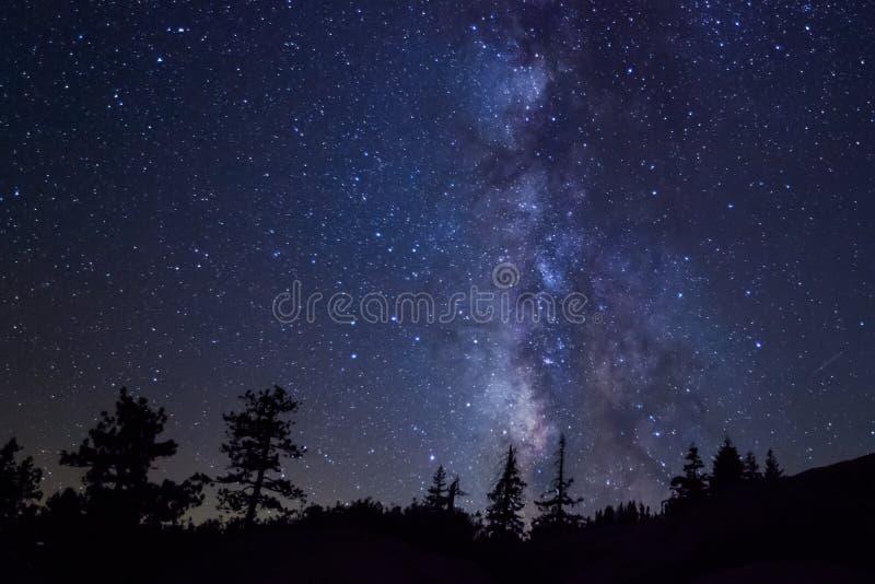 Milky Way at Yosemite National Park royalty free stock photo