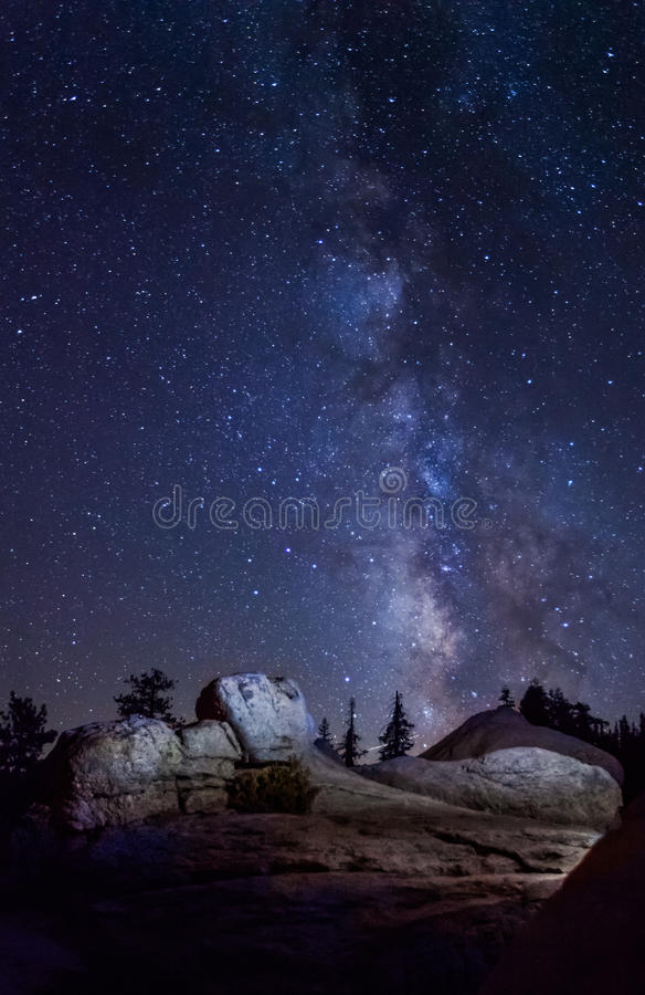 Milky Way at Yosemite National Park royalty free stock photos