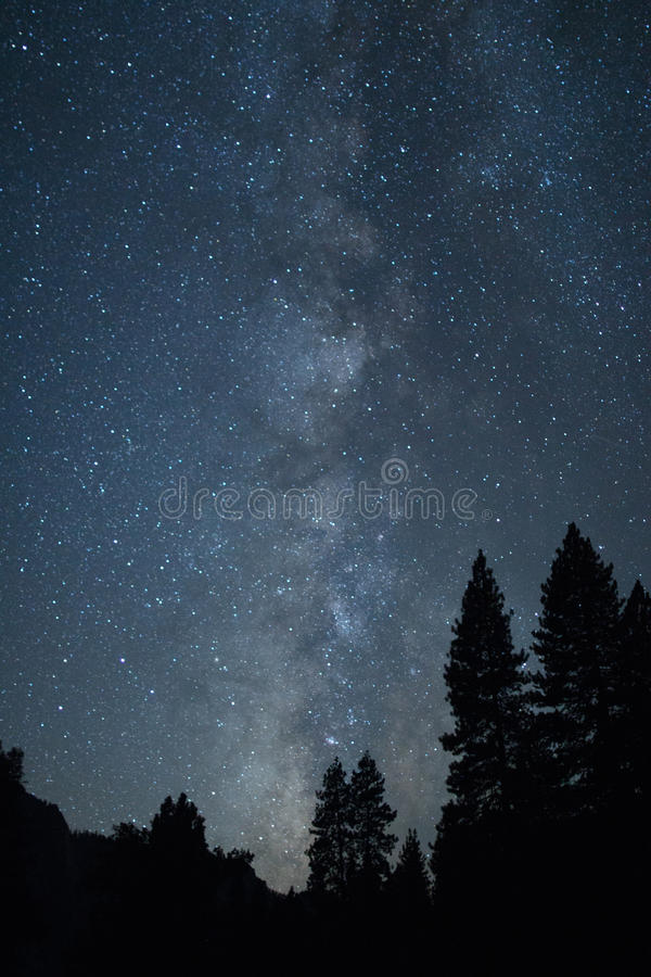 Milky Way from Yosemite Valley stock image