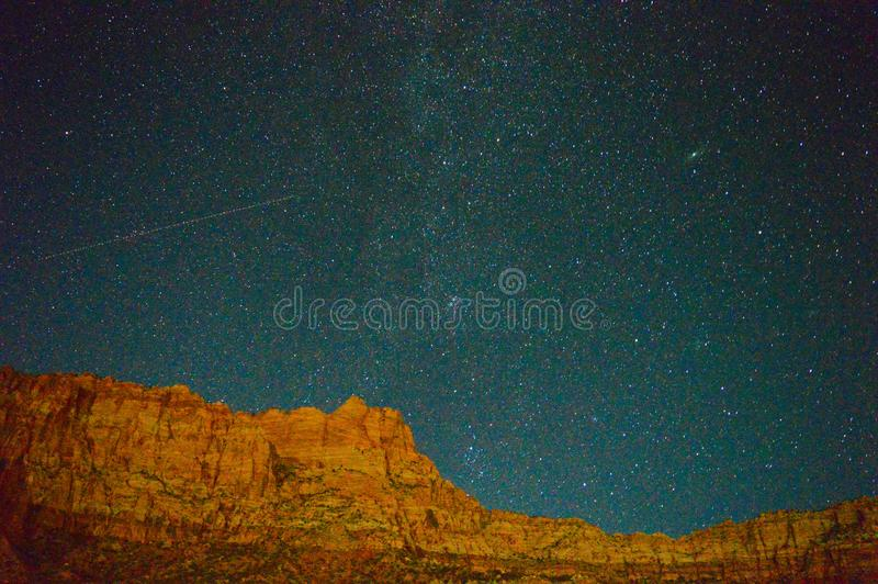 Milky way in Zion stock images