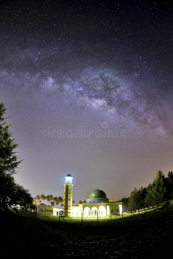 Beautiful Mosque Beautiful Milkyway