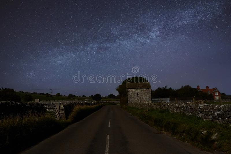 Milkyway em Gales norte fotografia de stock