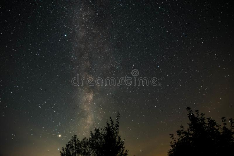 Milkyway galaxy night sky royalty free stock images