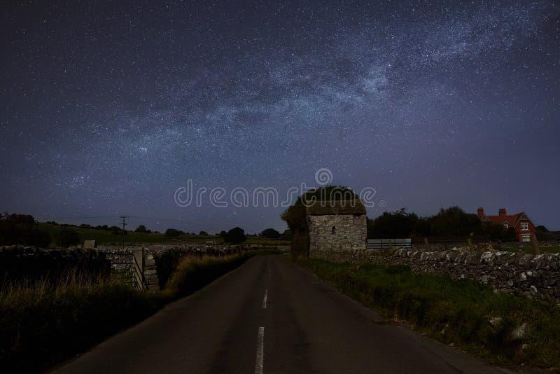 Milkyway in Noord-Wales stock fotografie