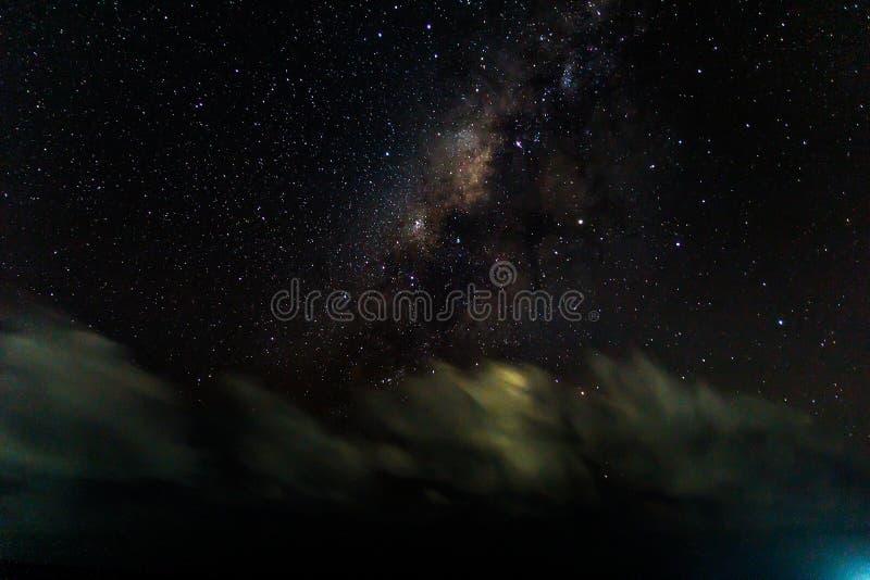 Milkyway på himlen arkivfoto