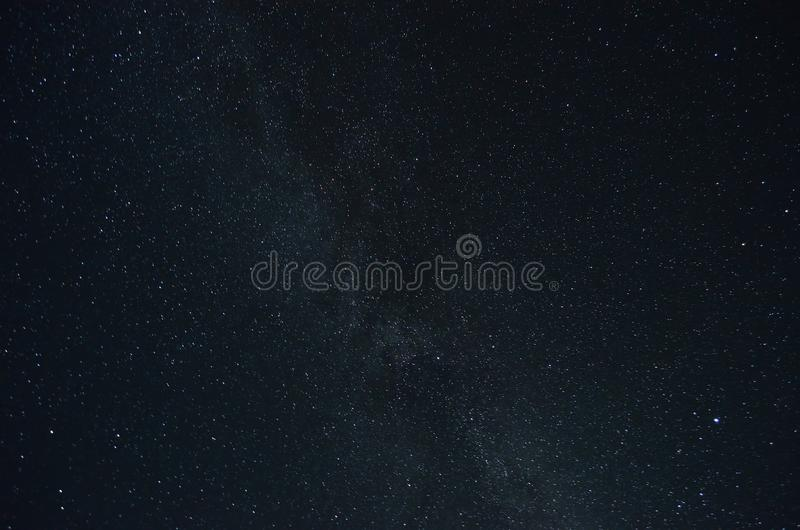 Milkyway star cluster. In night stock image
