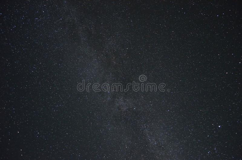 Milkyway star cluster in night.  royalty free stock images