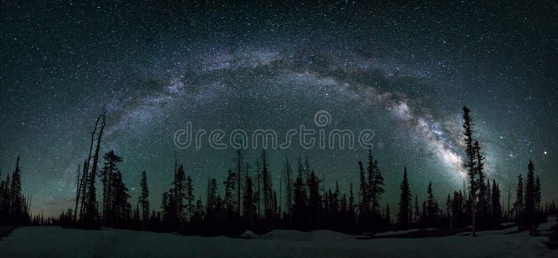 Milkywaymelkweg, Dixie National Forest Utah royalty-vrije stock afbeeldingen