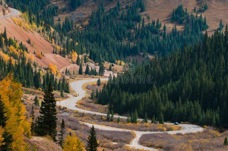 Millón de carreteras Colorado del dólar fotos de archivo